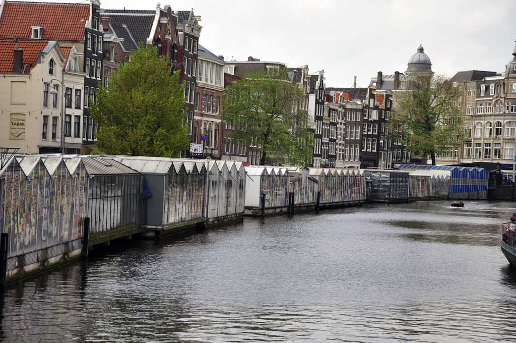 Back side of Bloemenmarkt at Amsterdam